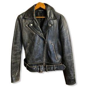 Kenneth Cole Black Label leather jacket moto 4